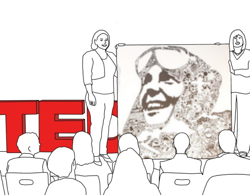 Live Art - Giant Doodle - TEDxWomenZurich - What does momentum mean to you